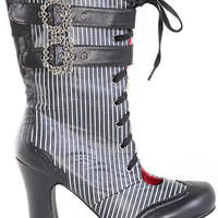Notorious Victoria Pinstripe Boots
