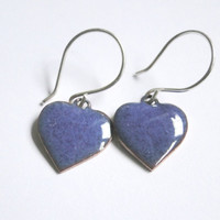 Pretty Enamel Heart Earrings