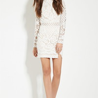 Lovecat Ornate Lace Mini Dress