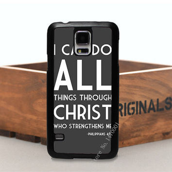 SAMSUNG S3 S4 S5 note2 note3 note4 Philippians Quote Jesus Christ Christian Cross Cell Phone Cover