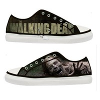 The Walking Dead Bicycle girl woman canvas shoes - Size : US 7 EUR 38