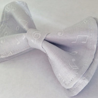 Music Notes On Gray Bow Tie, Doctor Who Baby, Bow Tie, Bow Ties Toddler, Newborn Bow Tie, Doctor Who, Bowtie, Boys Bow Tie
