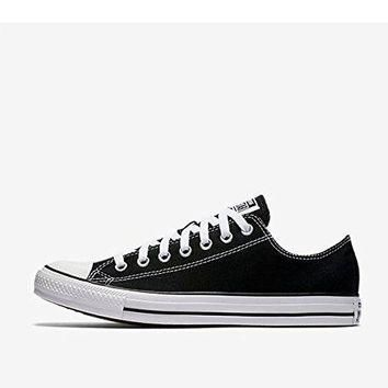 Converse Unisex Chuck Taylor All Star Low Top Black Sneakers - 7 Men 9 Women