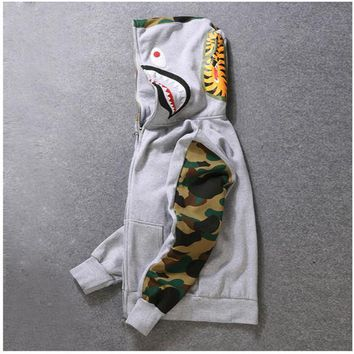 Mens Female Sportwear Coat Jogger Tracksuit Pullover Fleece Sweatshirt Crewneck Bird OVO Drake Black Hip Hop stusay Hoodie Men Shark mouth