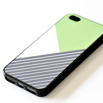 Color-blocking iPhone Case - Geometric Lime Green