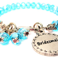 Bridesmaid Circle Splash Of Color Crystal Bracelet