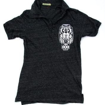Halloween Day of the Dead Music Skeleton Polo Shirt