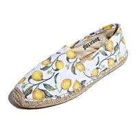 Soludos 'Original Lemon' Print Espadrille Slip-On (Women)