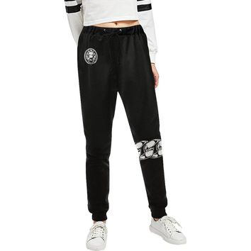 Women's Black Chain Track Pants