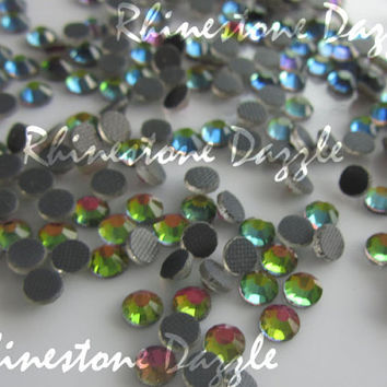 ss10 Hotfix Rainbow Crystal Flat back Rhinestones, 3mm Hotfix Rainbow Crystal Flat back Rhinestones