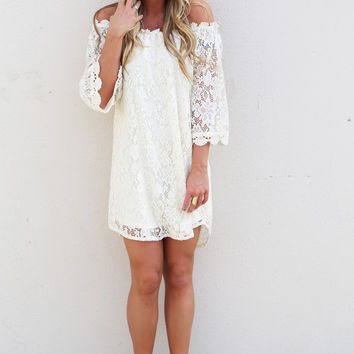 Just My Type Crochet Dress {Cream}