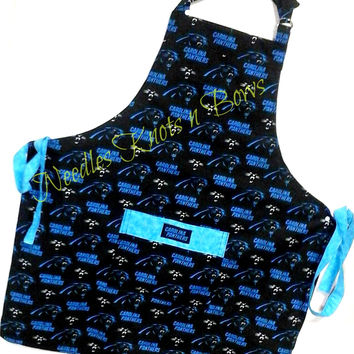 Carolina Panthers Apron, Mens Apron, Womens Apron, Panthers Apron, Football