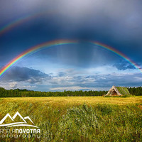 Rainbow nature photography finland lapponia lapland scandinavia north europe instant download wall art photography