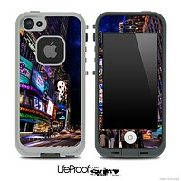 Vibrant Times Square Skin for the iPhone 5 or 4/4s LifeProof Case