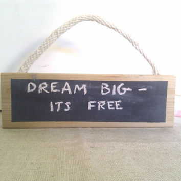 Chalkboard Message Sign - Wall Mounted or free standing Organizer Wood