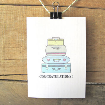 Congratulations on Your New Home Card. New House Card. Moving Card.