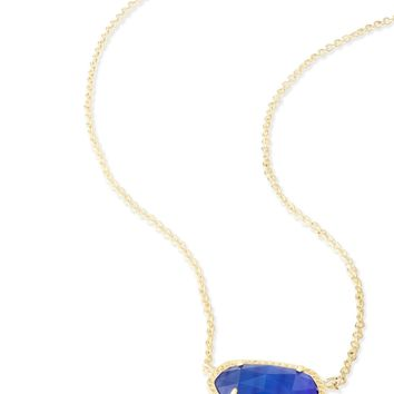 Kendra Scott Elisa Cobalt Cat's Eye Gold Necklace