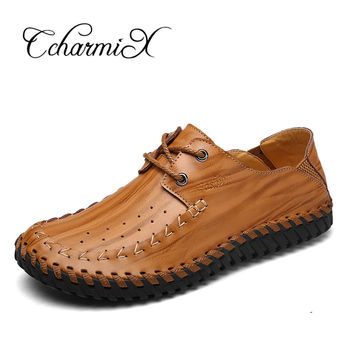 Men s Flats Leather Shoes Vintage Designer Walking Shoes Men Dre d71f0ff282