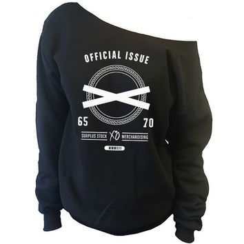 XO Official Issue The Weeknd Clothing Off-The-Shoulder Oversized Slouchy Sweatshirt