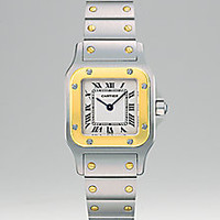 Cartier - Santos Galbee Stainless Steel and 18K Yellow Gold Bracelet Watch, Small - Saks Fifth Avenue Mobile