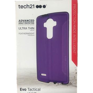 Tech21 Evo Tactical Hardshell Case Slim Protect Cover For LG G4 Purple