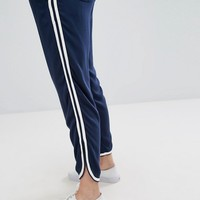 RVCA Relaxed Straight Leg Jogger With Contrast Piping at asos.com