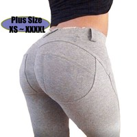 Women Leggings Fashion Fitness Calzas Leggins Sports Slim Plus Size Christmas Gift QD112001