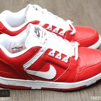 KUYOU N267 Supreme x Nike SB Air Force 2 AF2 World Famous Casual Skate Shoes Red
