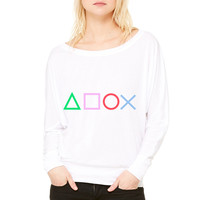Gamer WOMEN'S FLOWY LONG SLEEVE OFF SHOULDER TEE