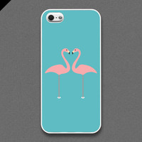 iPhone 5 case - Couple flamingo - also available in iPhone 4 and iPhone 4S size