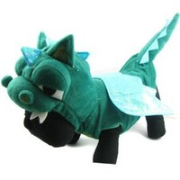 Alfie Couture Designer Pet Apparel - Smokie the Dragon Dinosaur Costume - Color: Green, Size: S
