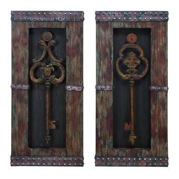 Wood metal wall decor 2 assorted ultimate handwork