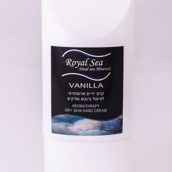 Royal Sea Dead Sea best 100% Natural Repair HAND CREAM VANILLA for Dry Hands 100ml/3.4oz