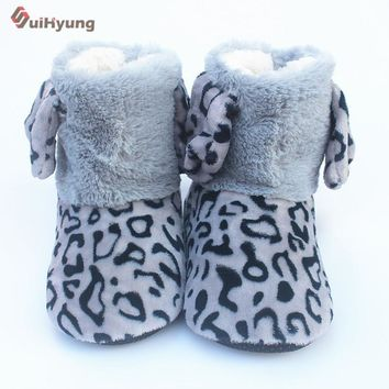 Suihyung Winter Warm Women Indoor Shoes Leopard Faxu Fur Home Slippers Plush Thermal C