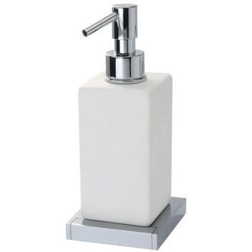 BA Domino Wall Mounted Ceramic Pump Soap Lotion Dispenser Bath or Kitchen