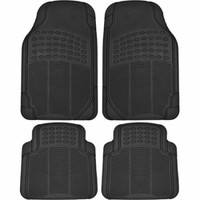 BDK Heavy-Duty 4-piece Front and Rear Rubber Car Floor Mats, All Weather Protection for Car, Truck and SUV - Walmart.com