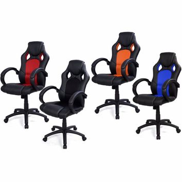 High Back Race Car Style Bucket Seat Office Desk Chair computer chair swivel chair home gaming casual chair top quality