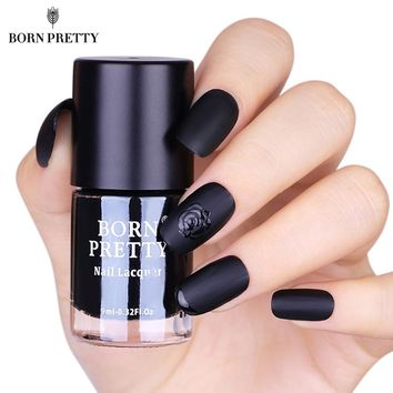 Black Matte Nail Polish 9ml Dull Low Gloss Varnish Lacquer Manicure Nail Art Polish