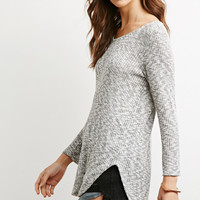 Marled Rib Knit Sweater