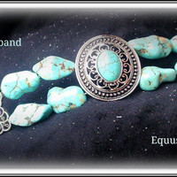 Turquoise horse browband