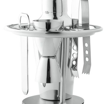 Chef's Star Professional 6 Piece Stainless Steel Compact Bar Set - Includes - Ice Bucket Cocktail Shaker Set - Martini Shaker Se