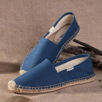 Soludos Women Blue Platform Smoking Slipper
