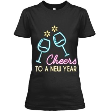 Cheers To A New Year Wine Glass New Years Eve 2019  Ladies Custom