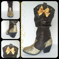 Get Ur Shine On Glitter Cowgirl Boots