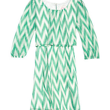 GB Girls 7-16 Chevron Flutter Dress | Dillards.com