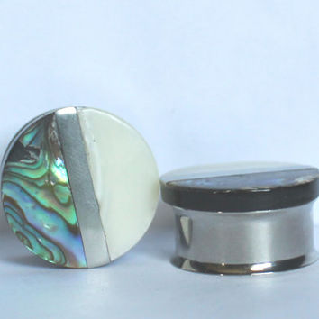 "Amazing Genuine Shell Plugs 7/8"" 1"" 22mm 25mm Unique"