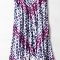 AEO 's Printed Midi Skirt (Purple)