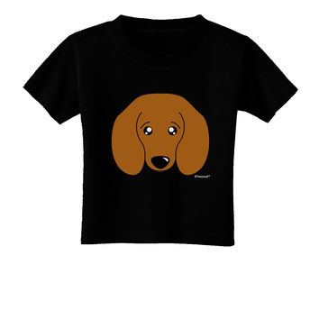Cute Doxie Dachshund Dog Toddler T-Shirt Dark by TooLoud