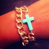 Cross Wrap Around Bracelet/ Anklet