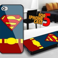 Superman Man of Steel Costume for iPhone 5 Black case